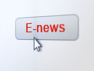 News concept: E-news on digital button background
