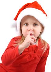 Bimba con cappello natalizio