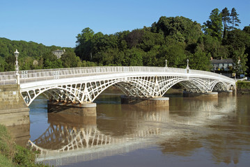Old Wye Bridge at Chepstow Gloucestershire England
