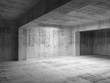 Empty abstract dark concrete room interior. 3d illustration
