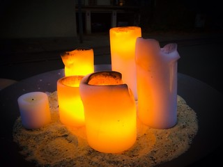 Candles in the night