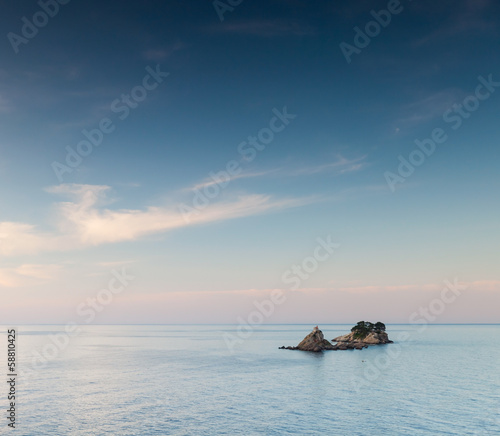 Islands near Petrovac town. Adriatic Sea, Montenegro