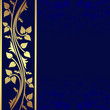 Luxury dark blue Background with golden border.