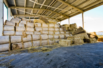 Modern steel storage of straw bales