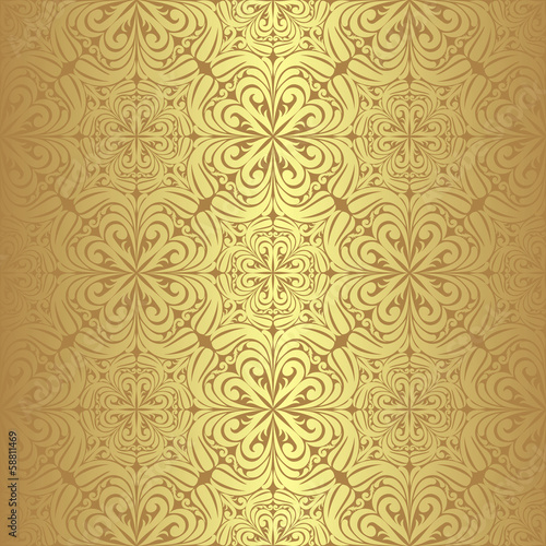 Luxury golden seamless Wallpaper.