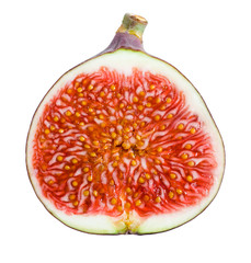 Figs. Ripe Fruit. Half on white background