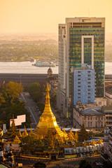 Sule Paya, Yangoon, Myanmar.