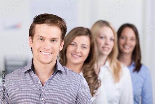 junges team im büro