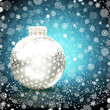 Background with Christmas ball.
