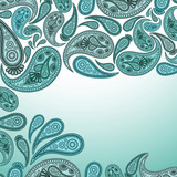 Paisley Oriental decor background.