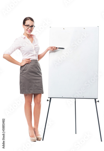 Woman with presentation