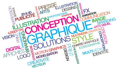 Conception graphique illustration nuage de mots couleurs