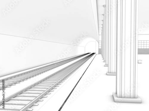 Drawing the train station  #1