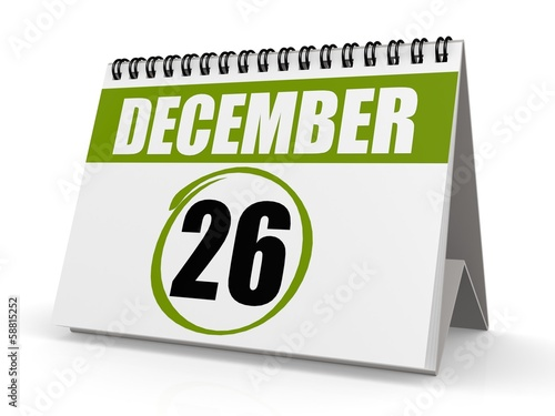 December 26, Boxing Day