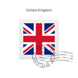 United Kingdom Flag Postage Stamp.