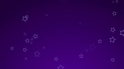 Animierte Weihnachtssterne im Loop Lila2