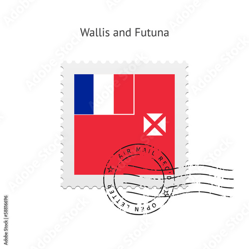 Wallis and Futuna Flag Postage Stamp.