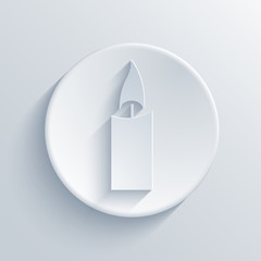 Vector light circle icon. Eps10