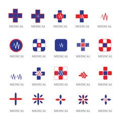 Medical Icons Set - Isolated On White Background