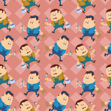 Worker, seamless pattern
