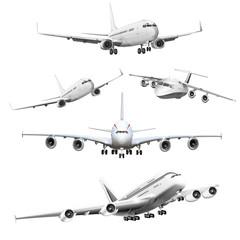 verschiedene Passagierflugzeuge freigestellt