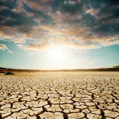 good sunset over desert
