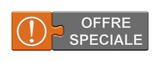 Puzzle-Button orange grau: Offre speciale