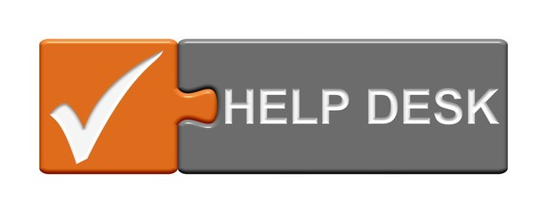 Puzzle-Button orange grau: Helpdesk