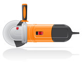 electric angle grinder vector illustration