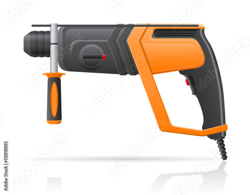 electric perforator vector illustration