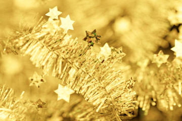 Tinsel. Christmas decoration.
