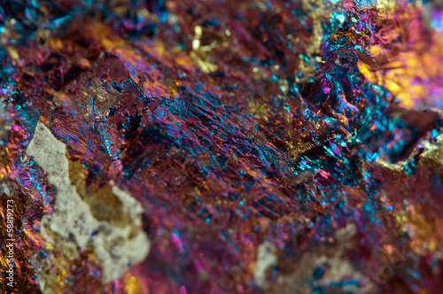 Abstract background from  metal mineral. Macro.