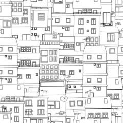 Seamless city sketch