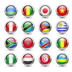 World flag glass icons