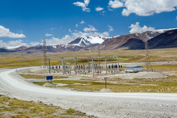 Electric power substation in Kyrgyzstan