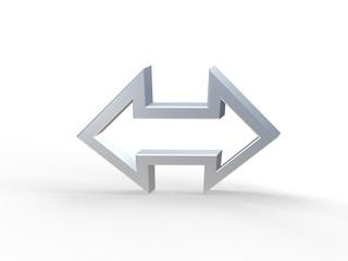 3D-Symbol - Doppelpfeil 2