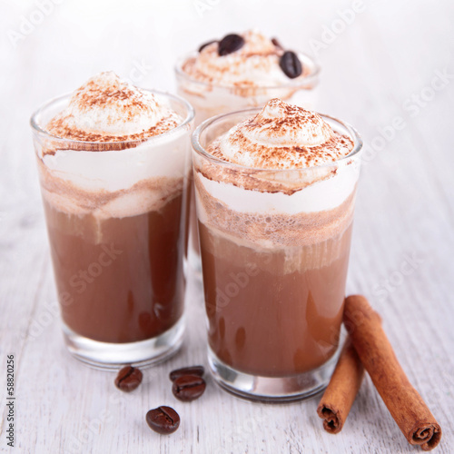 coffee or chocoate with cream