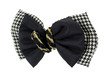 Checkered Black Bows Gold Braid Center