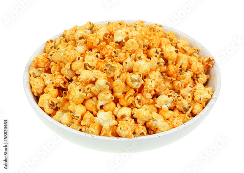 Cheddar Cheese Popcorn Hot Sauce Flavor Angle View