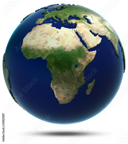 Africa map from space - 58821087