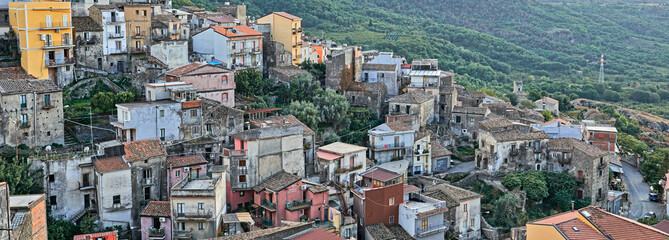 Aerial View On Town In Sicily