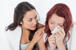 Young woman consoling a crying female friend