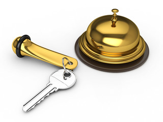 Hotel Key and Reception Bell