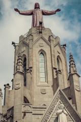 Church Sacred Heart.Tibidabo. Barcelona.