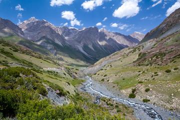 Rapid Djuku river in Kyrgyzstan