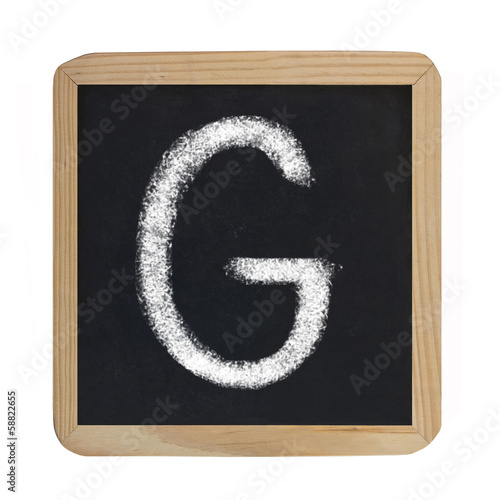 letter G on blackboard