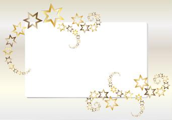 Goldene Sternschnuppen - Sterne - Schweif - Glitzer Papier