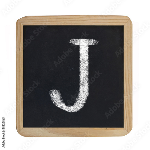 letter J on blackboard
