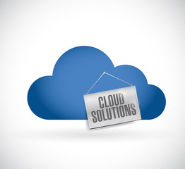 cloud computing, cloud solutions hanging banner