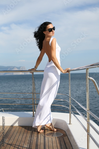 beautiful girl on yacht